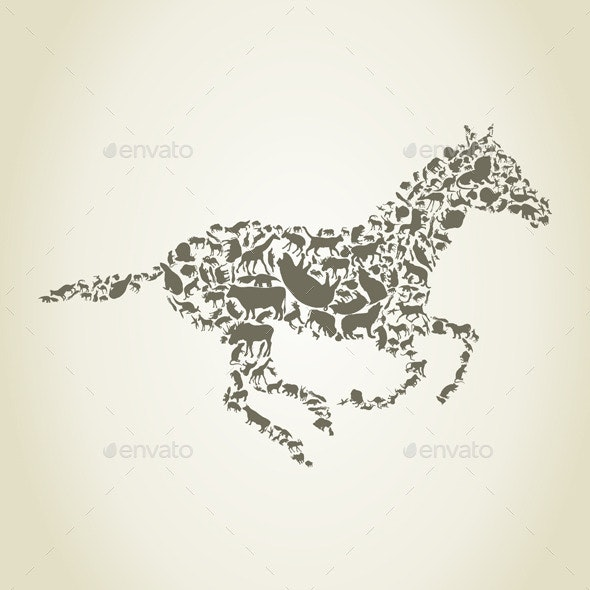 Horse Animals - Animals Characters
