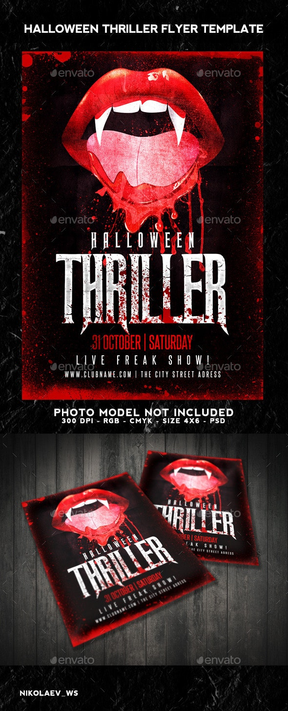 Halloween Thriller Flyer - Clubs & Parties Events