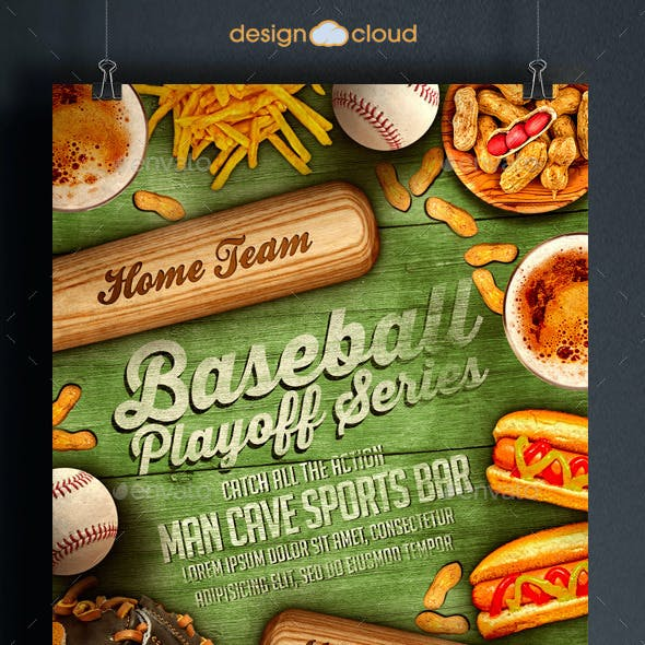Baseball Playoff Series Flyer Template
