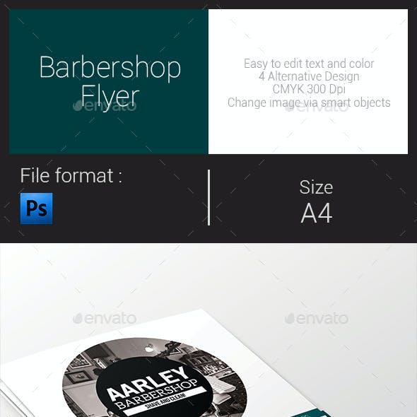 Simple Barbershop Flyer