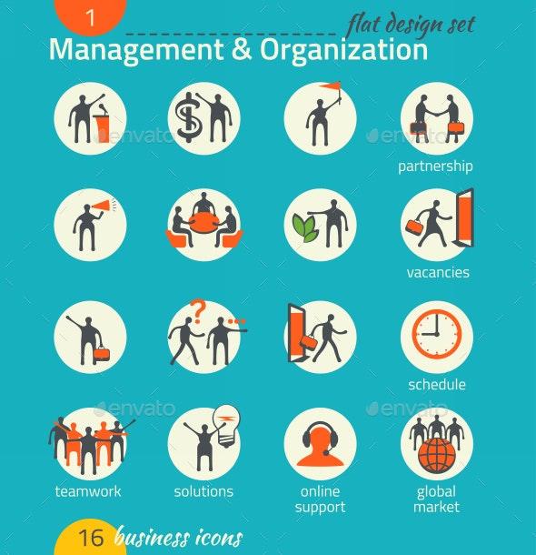 Business Icon Set. Management, Human Resource