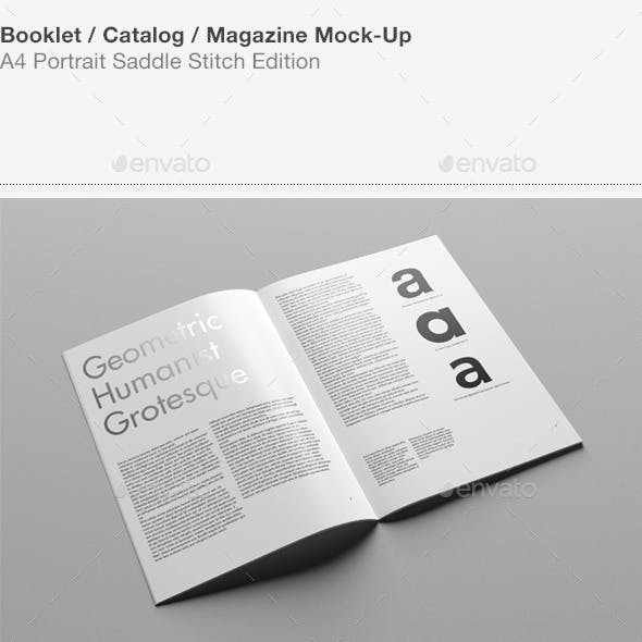 A4 Portrait Catalog / Magazine Mock-Up