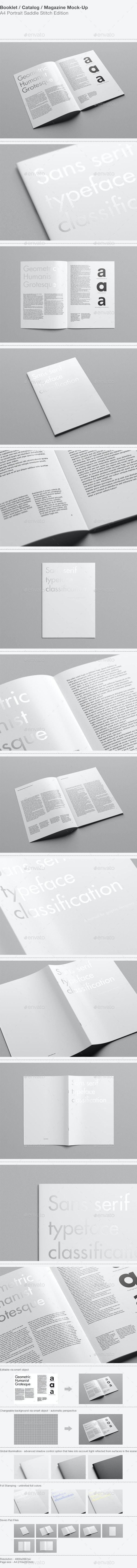 A4 Portrait Catalog / Magazine Mock-Up - Magazines Print