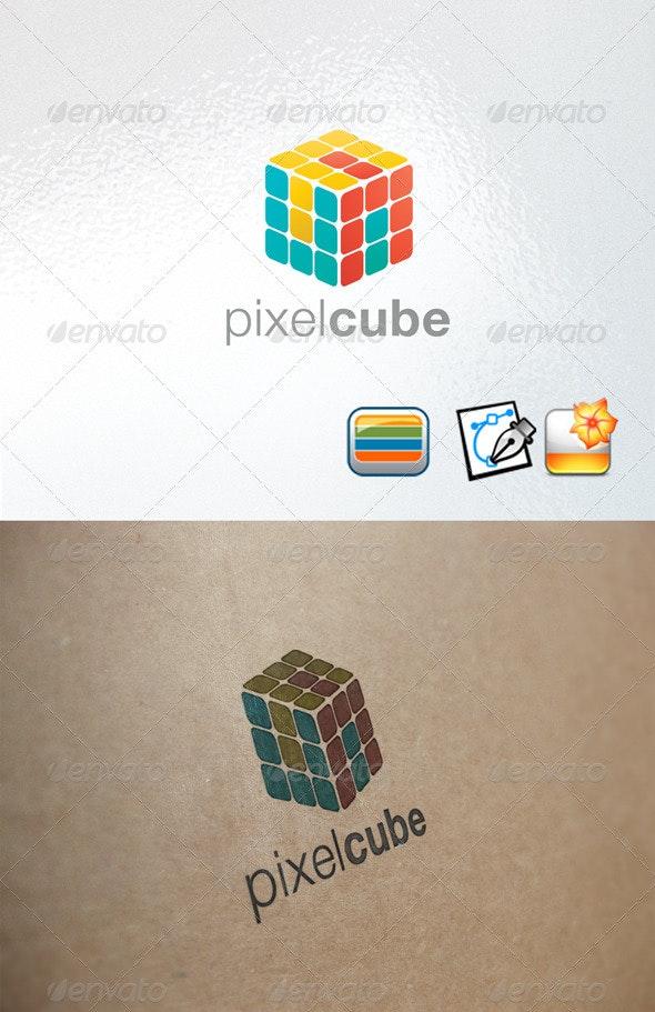Pixelcube logo - Objects Logo Templates
