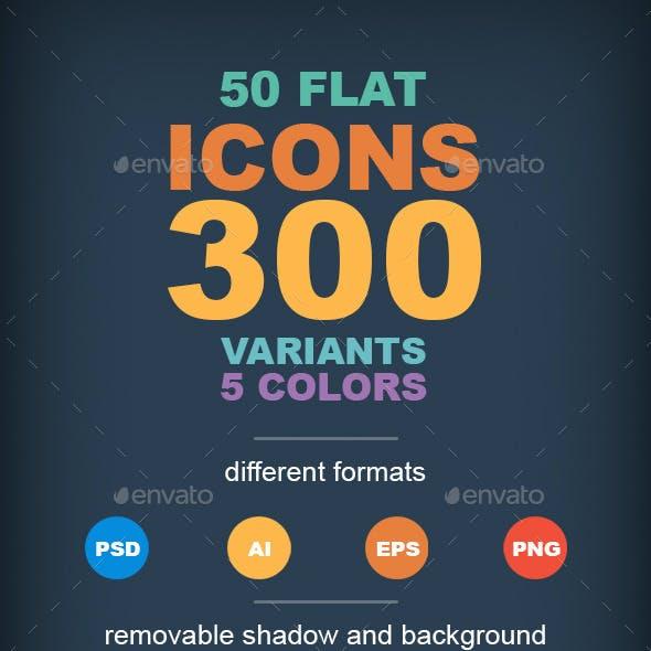 50 Flat Icons