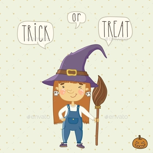 Halloween Background with a Witch.  - Halloween Seasons/Holidays