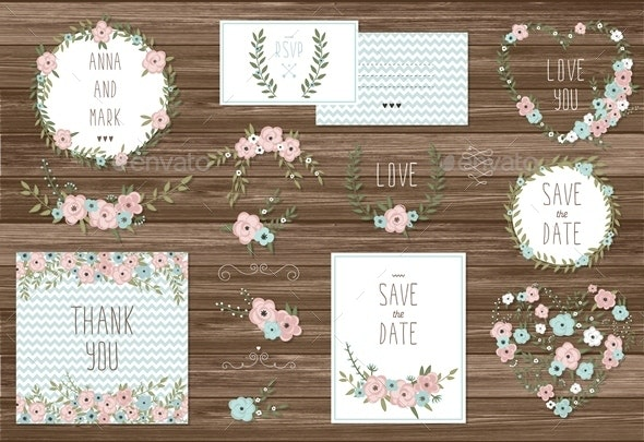 Stylish Cards Collection with Floral Bouquets  - Flowers & Plants Nature