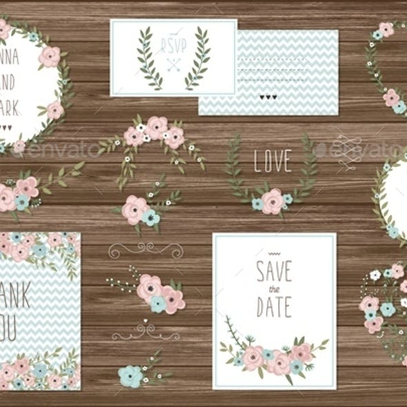 Stylish Cards Collection with Floral Bouquets