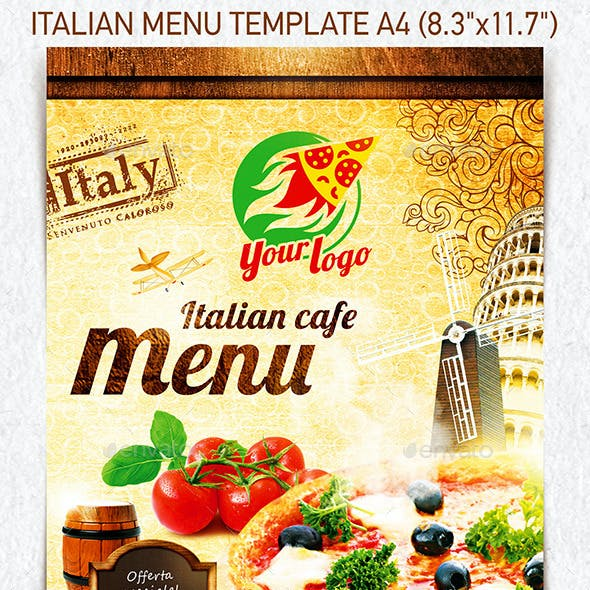 Italian Menu Template vol.1