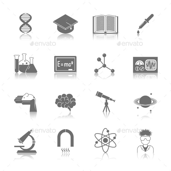 Science and Research Icon Black