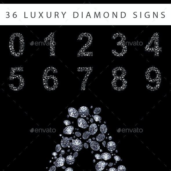 36 Diamond Symbols