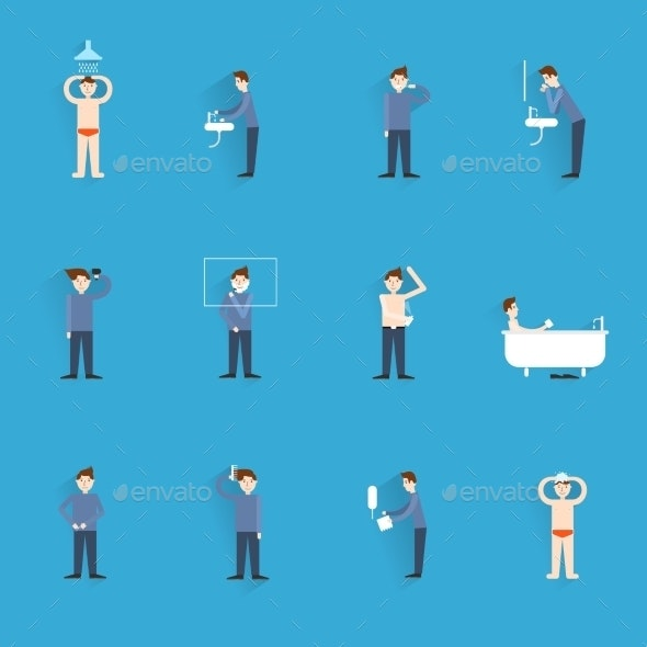 Hygiene Icons Flat - Web Technology