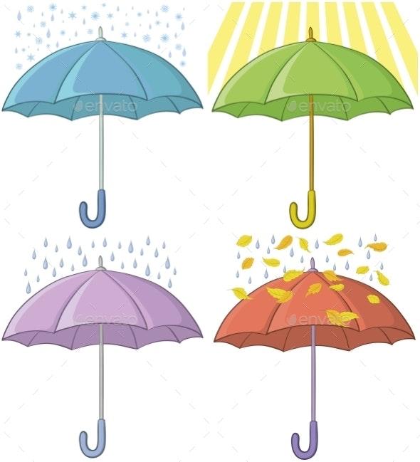 Umbrellas Set - Seasons Nature
