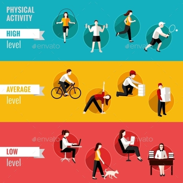 Physical Activity Horizontal Banners - Sports/Activity Conceptual