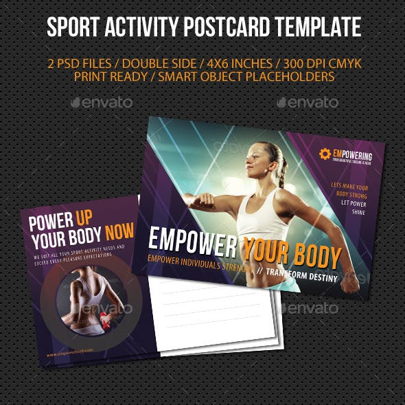 Sport Activity Postcard Template V02