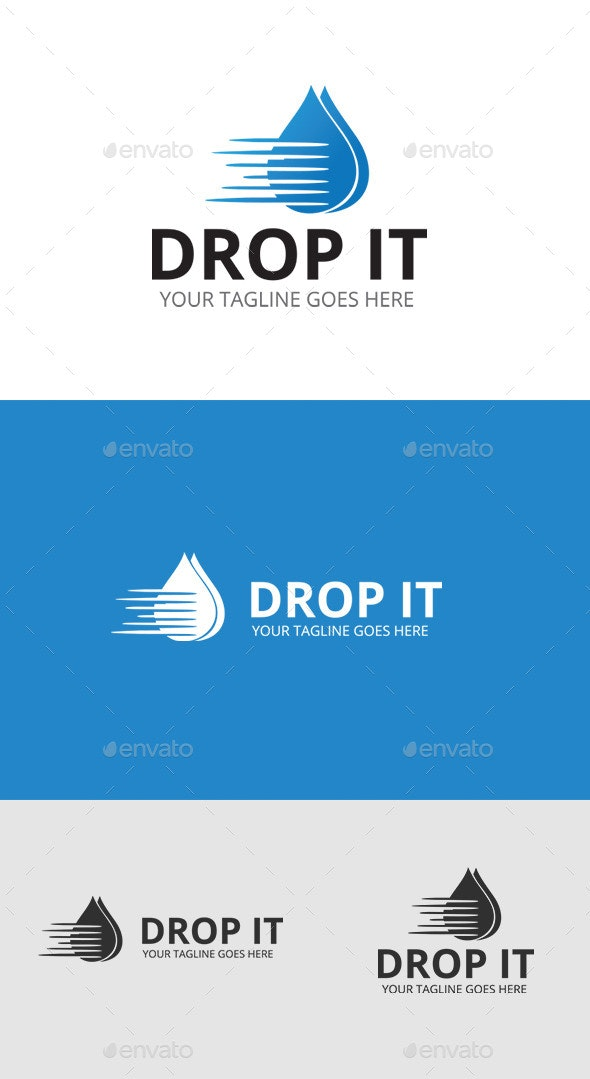 Water Drop Logo - Symbols Logo Templates