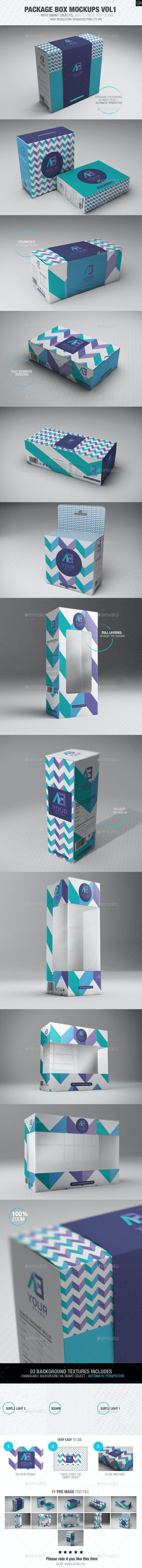Package Box Mockups Vol1 - Packaging Product Mock-Ups