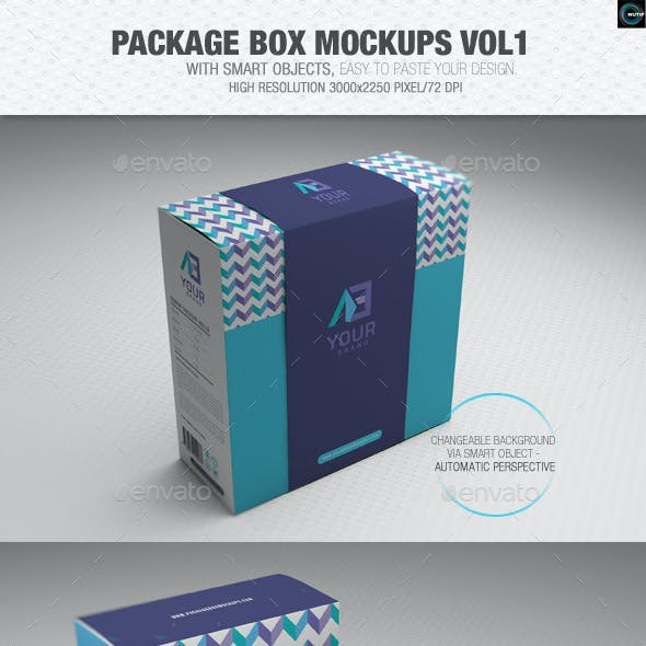 Package Box Mockups Vol1
