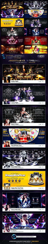 Nightclub V3 FB Timeline Cover - Facebook Timeline Covers Social Media