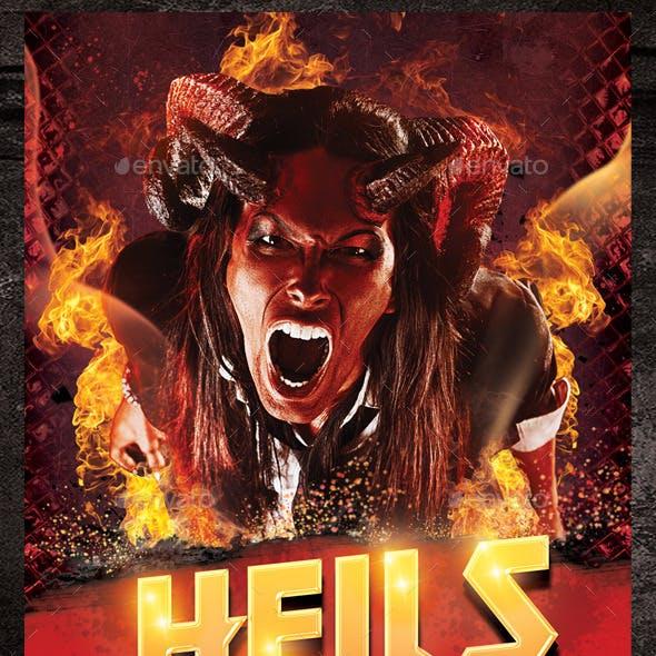 Hells Party Flyer