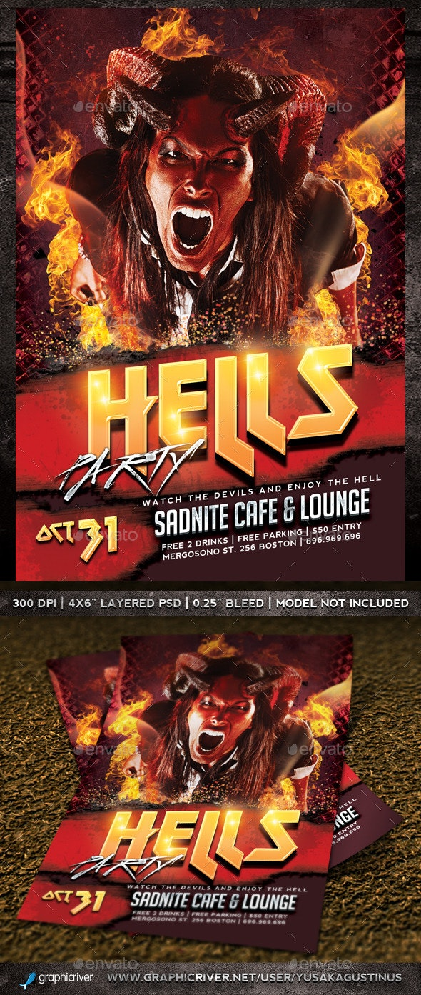 Hells Party Flyer - Clubs & Parties Events