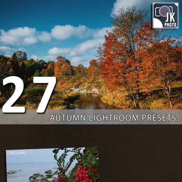 27 Autumn Lightroom Presets
