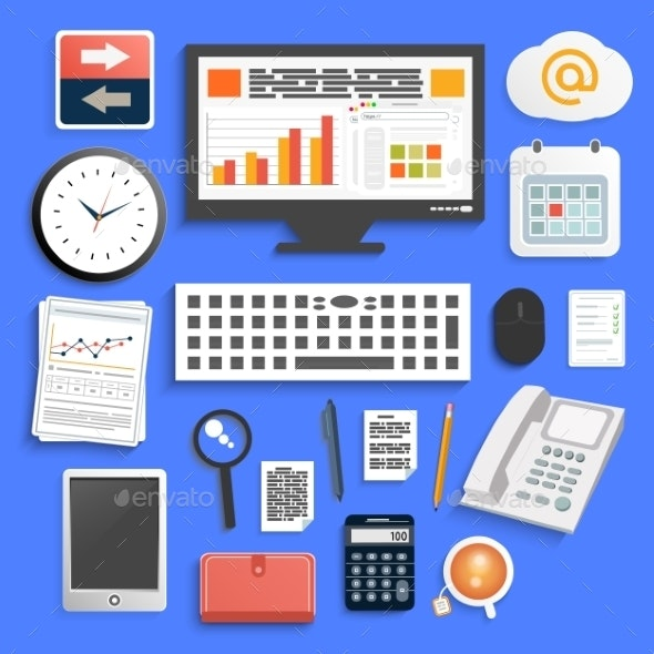 Office Work Elements - Technology Conceptual