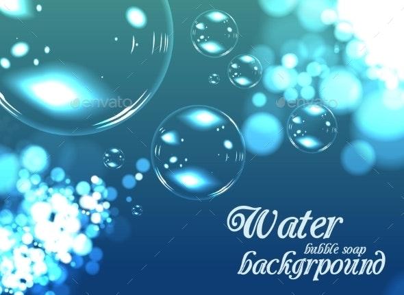 Bubble Soap Background - Nature Conceptual