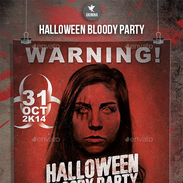 Halloween Bloody Party Flyer/Poster