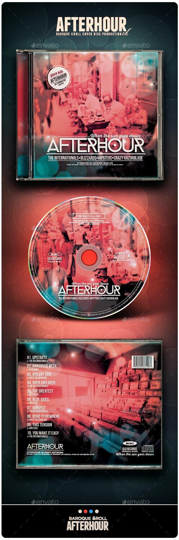 Afterhour CD  - CD & DVD Artwork Print Templates