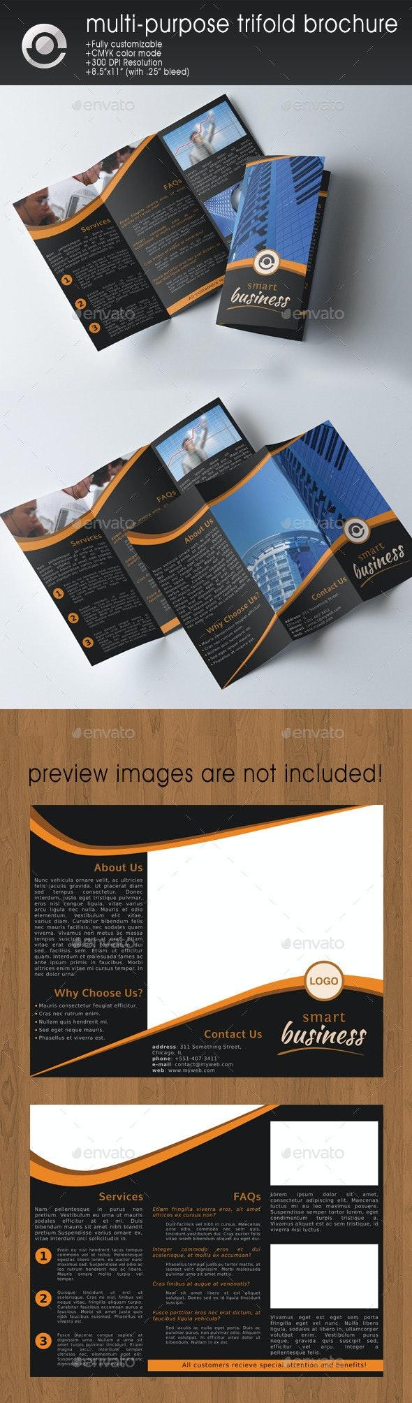 Multi-purpose Business Trifold Brochure - Corporate Brochures