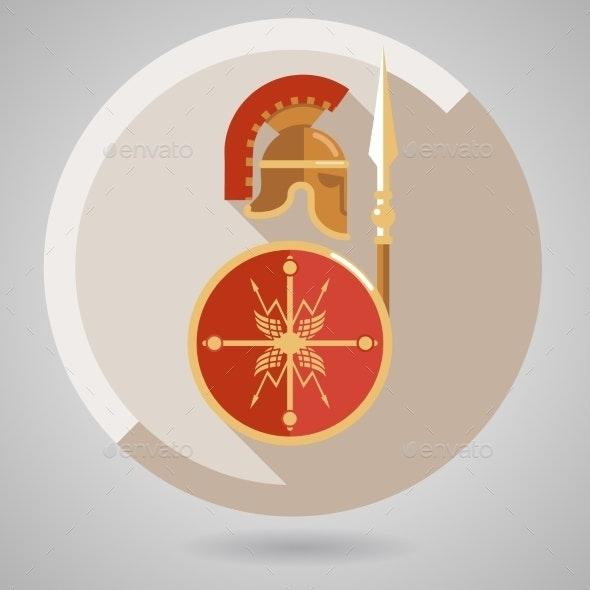 Ancient Warrior Icon - Miscellaneous Vectors