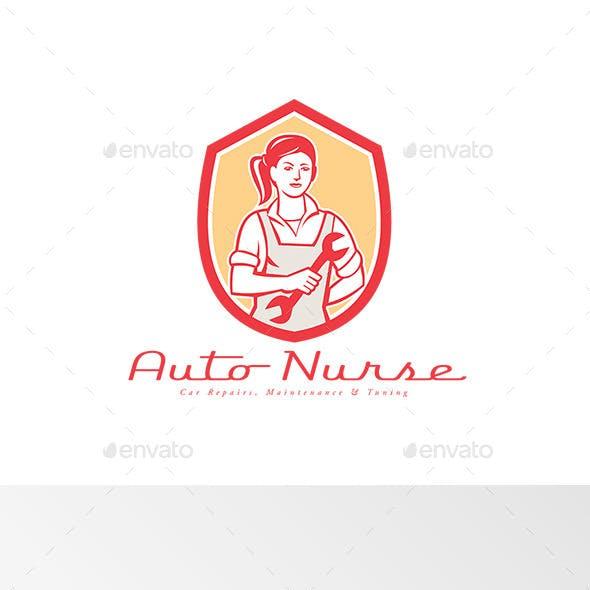 Auto Nurse Car Maintenance Logo