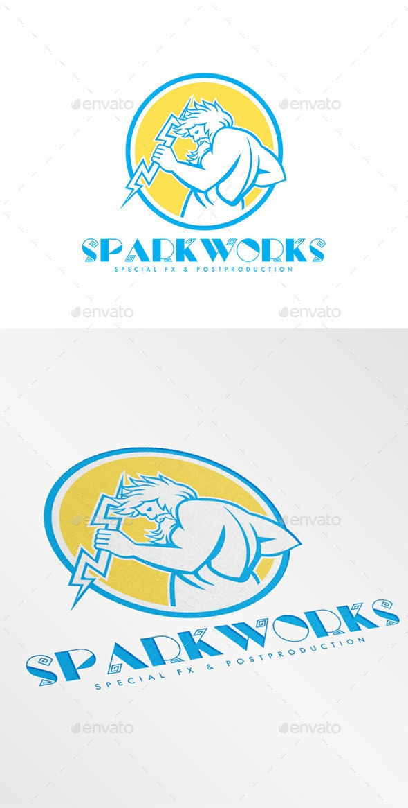 Sparkworks Special Fx and Post Production Logo - Humans Logo Templates