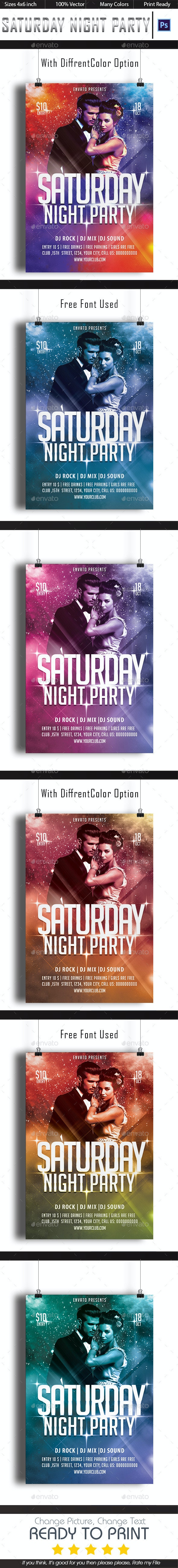 Saturday Night - Clubs & Parties Events