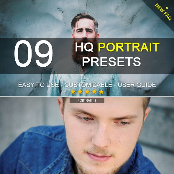 9 HQ Portrait Presets