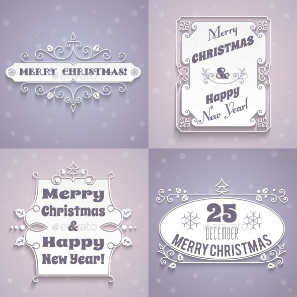 Christmas Labels White Set - Christmas Seasons/Holidays