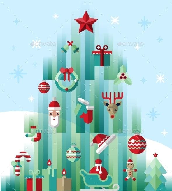 Christmas Icons Tree - Christmas Seasons/Holidays