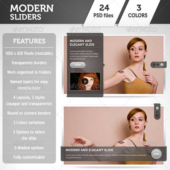Modern Sliders Template