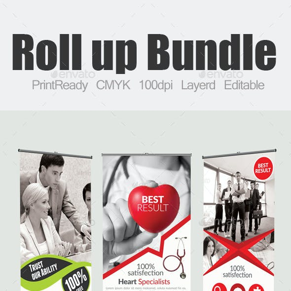 Multi Use Roll up Banners Bundle