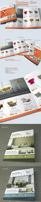 Furniture Store Brochure Template - Catalogs Brochures