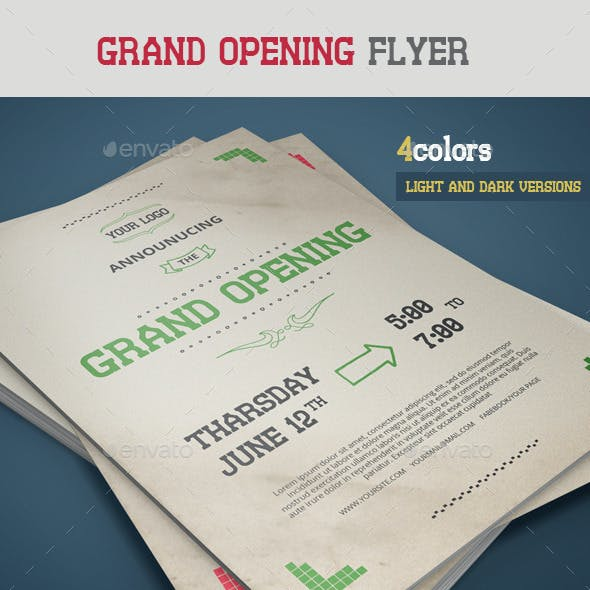 Retro Grand Opening Flyer