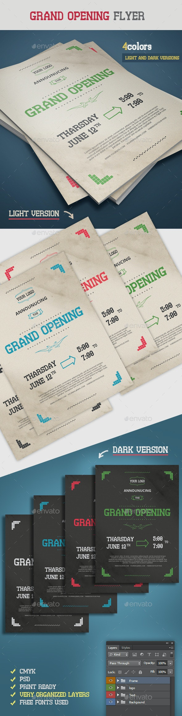 Retro Grand Opening Flyer - Events Flyers