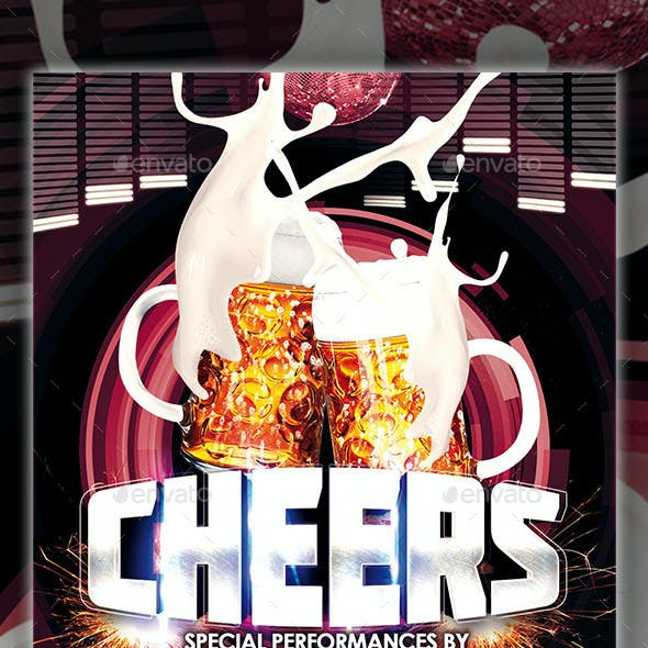 Cheers Party Flyer