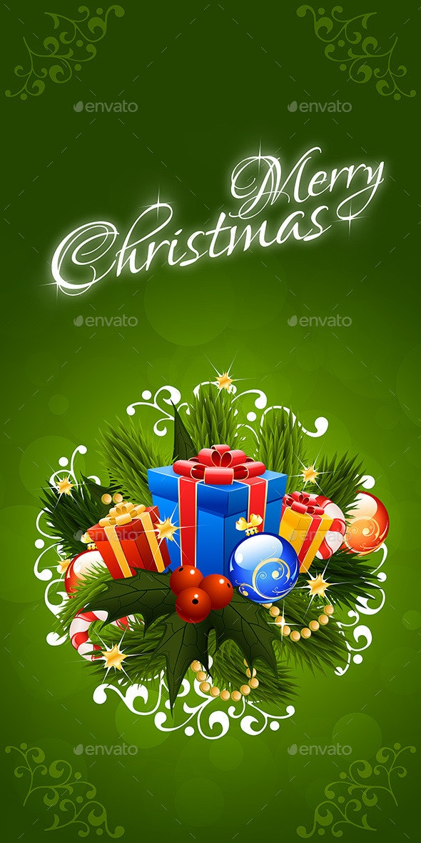 Christmas Greeting Card. Merry Christmas Lettering - Christmas Seasons/Holidays