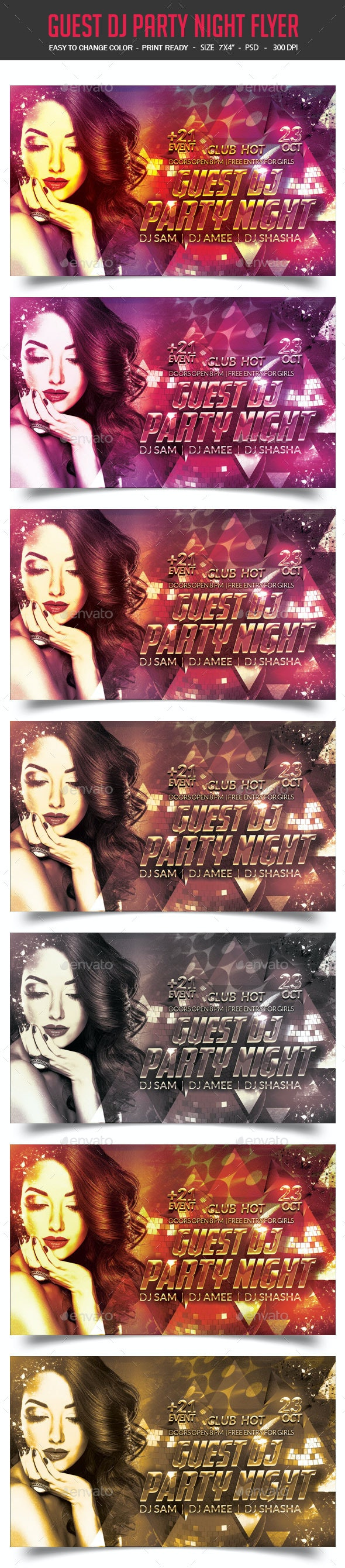 Guest Dj Party Night Flyer - Clubs & Parties Events