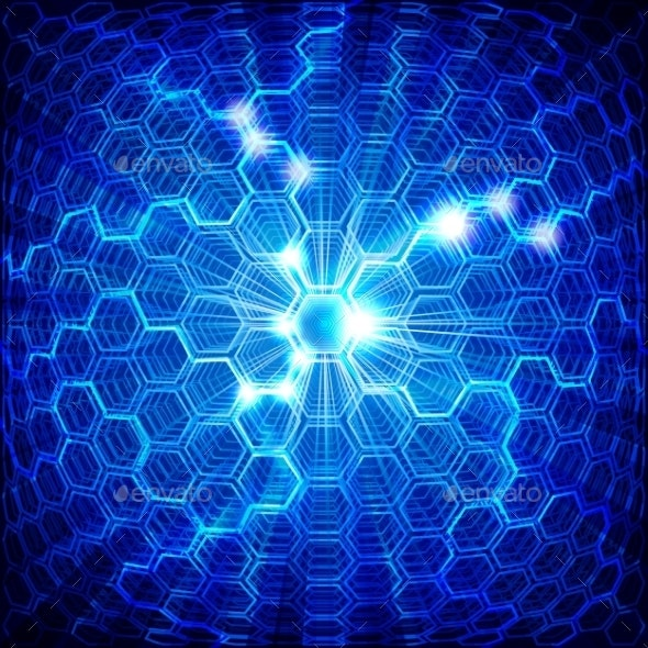 Blue Background - Technology Conceptual