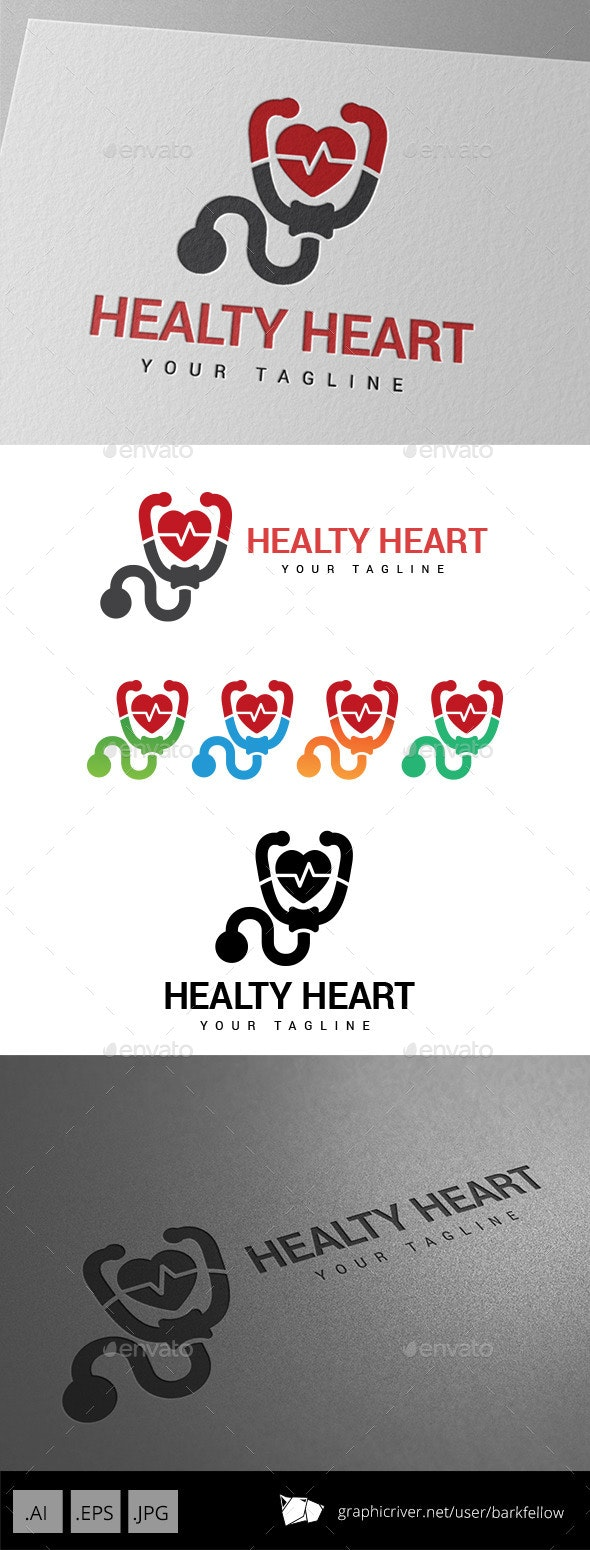 Healthy Heart Logo - Abstract Logo Templates