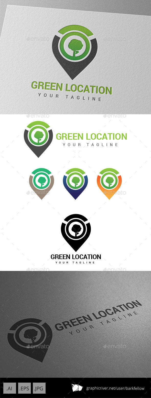 Green Eco Location Logo - Nature Logo Templates