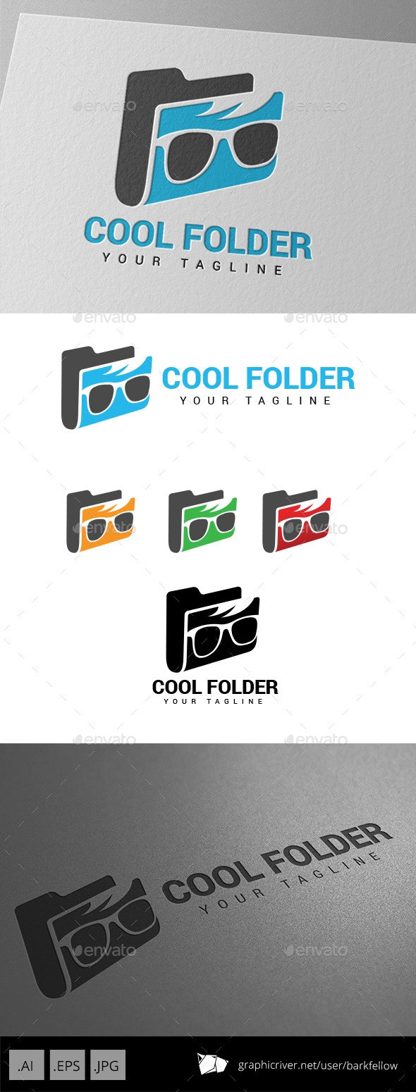 Cool Geek Folder - Humans Logo Templates